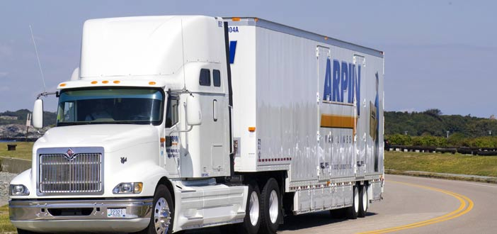 Arpin truck driving on road