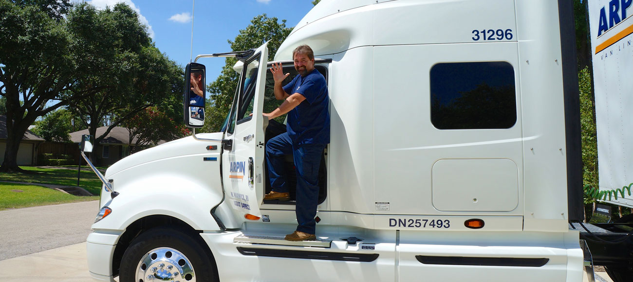 Mover getting into Arpin truck